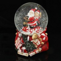 Снежный шар «Новогодние подарки» музыкальный купить в Минске +375447651009