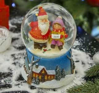 Снежный шар «Письмо Деду Морозу» музыкальный купить в Минске +375447651009