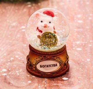Снежный шар «Желаю богатства» купить в Минске +375447651009