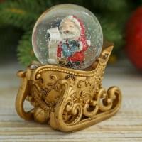 Снежный шар «Золотые сани» Минск +375447651009