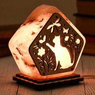 Соляная лампа «Игривый котик» 1 кг. купить в Минске +375447651009