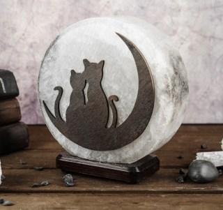 Соляная лампа «Лунные коты» 3,6 кг. купить в Минске +375447651009