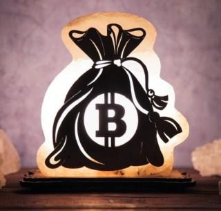 Соляная лампа «Мешок с биткоинами» купить в Минске +375447651009