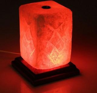 Соляная лампа «Прямоугольник» с чашей для аромамасел купить в Минске +375447651009