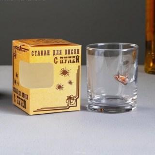 Стакан для виски с пулей «Непробиваемый» купить в Минске +375447651009