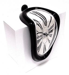 Стекающие часы Сальвадора Дали «Melting Clock» черные Минск +375447651009
