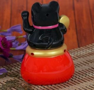 Сувенир « Кот счастья» черный на солнечной батарее  купить в Минске +375447651009