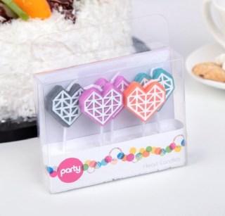 Свечи в торт «Сердечки» 5 шт. купить в Минске +375447651009