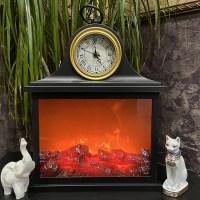 Светильник декоративный «Камин» с часами купить Минск +375447651009
