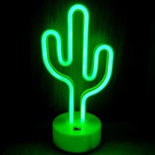 Светильник неоновый «Кактус» от USB купить в Минске +375447651009