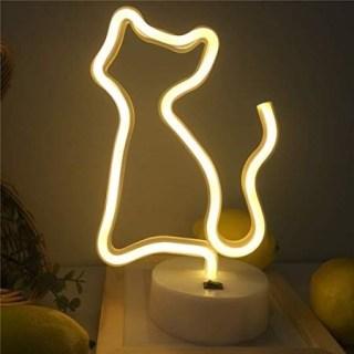 Светильник неоновый «Котик» от USB купить в Минске +375447651009