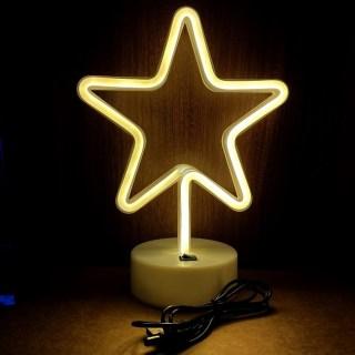 Светильник неоновый «Звезда» от USB купить в Минске +375447651009