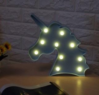 Светильник-ночник «Единорог» голубой купить в Минске +375447651009
