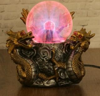 Светильник плазменный шар «Драконы» D=10 см.. купить в Минске +375447651009