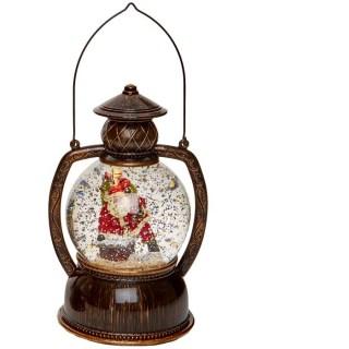 Светильник со снегом «Дед Мороз с подарками» купить в Минске +375447651009
