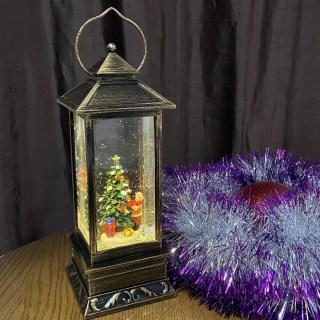 Светильник со снегом «Фонарь новогодний» музыкальный Минск +375447651009