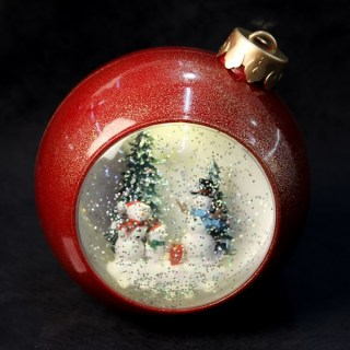Светильник со снегом «Новогодний шар» музыкальный  купить в Минске +375447651009