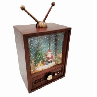 Светильник со снегом «Телевизор» музыкальный купить в Минске +375447651009