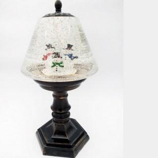 Светильник со снегом «Веселые снеговики» музыкальный купить в Минске +375447651009