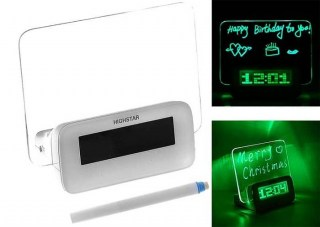 Светящийся LED будильник «Послание» с USB- хабом купить в Минске +375447651009