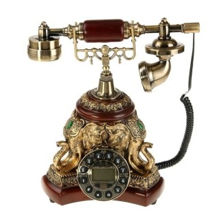 Телефон в стиле ретро 'Слоны' бронза Минск +375447651009