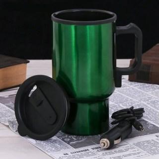 Термокружка с подогревом  фонарик  салфетка 'Плевать на бездорожье' купить