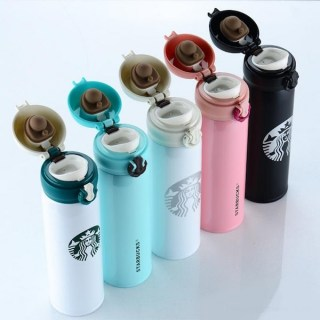 Термос Starbucks бело- зеленый 480 мл Минск +375447651009