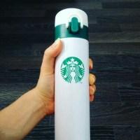 Термос Starbucks бело-зеленый 380 мл Минск +375447651009