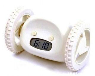 Убегающий будильник белый купить в Минске +375447651009