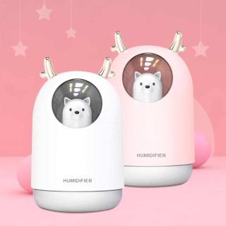USB-Увлажнитель «Cosmozoo» с led-подсветкой розовый купить в Минске +375447651009