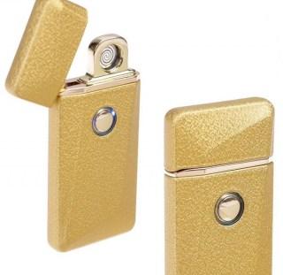 Электронная USB-зажигалка «LIGHTER CLASSIK» золотистая +375447651009