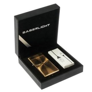 USB зажигалка в коробке «Saberlight» золотая купить +375447651009