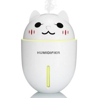Увлажнитель воздуха USB «Котэ» с фонариком и вентилятором белый купить Минск +375447651009