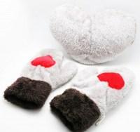 Варежки для влюбленных серые купить Минск