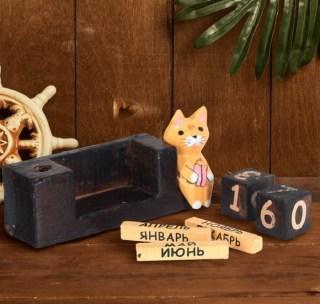 Вечный календарь «Кот с карандашом» купит