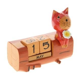 Вечный календарь «Котик с цветочком» купить в Минске +375447651009