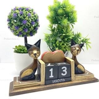 Вечный календарь «Влюбленные котики» купить в Минске +375447651009