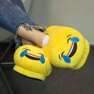 Тапочки смайлики Радость до слез (Эмоджи, Emoji) купить
