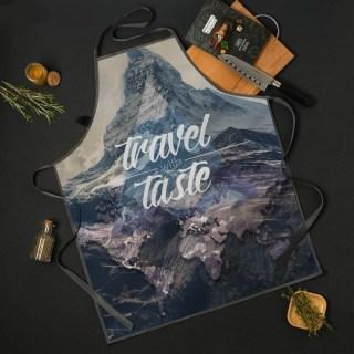 Веселый фартук «Travel the taste» купить в Минске +375447651009