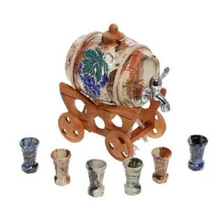 Винная бочка на тележке «Синий виноград» купить в Минске +375447651009