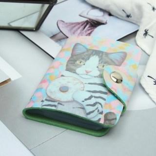 Визитница «Кот с пончиком» 28 холдеров купить в Минске +375447651009