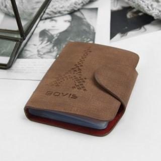 Визитница «Париж» коричневая 26 холдеров купить в Минске +375447651009