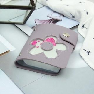 Визитница «Цветок» фиолетовая 28 холдеров купить в Минске +375447651009
