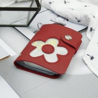 Визитница «Цветок» красная 28 холдеров купить в Минске +375447651009