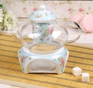 Заварочный чайник «Нежность» с подставкой для подогрева купить в Минске +375447651009