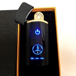 Зажигалка электронная USB «Mersedes» черная матовая Минск +375447651009