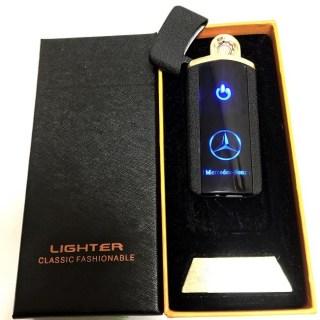 Зажигалка электронная USB «Mercedes» черная матовая Минск +375447651009