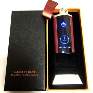 Зажигалка электронная USB «Mercedes» красная Минск +375447651009