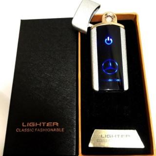 Зажигалка электронная USB «Mercedes» серебристая Минск +375447651009