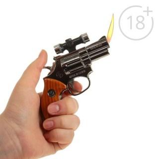Зажигалка на подставке «Револьвер с прицелом» газовая цвет:микс  купить в Минске +375447651009